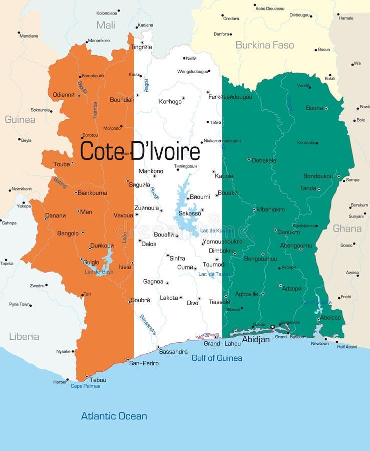 Cote d'Ivoire royalty ilustracja