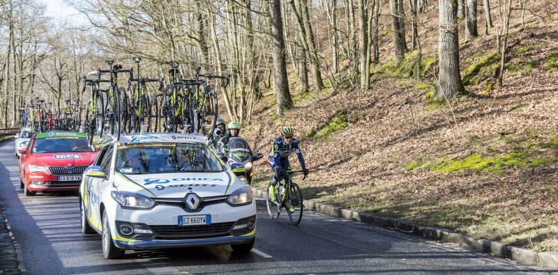 The Cyclist Simon Gerrans - Paris-Nice 2017 stock images