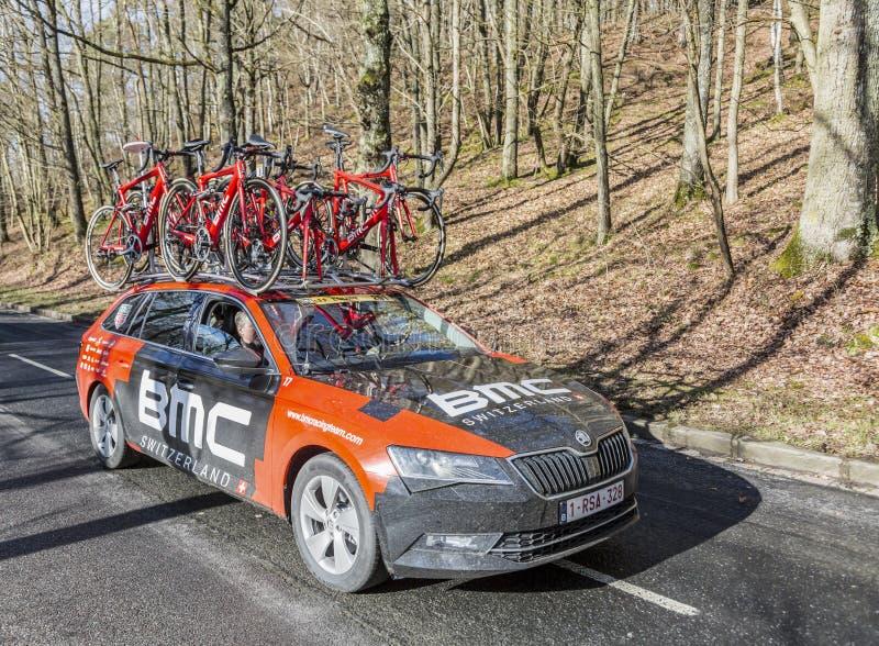 The Car of BMC Racing Team - Paris-Nice 2017 stock photography