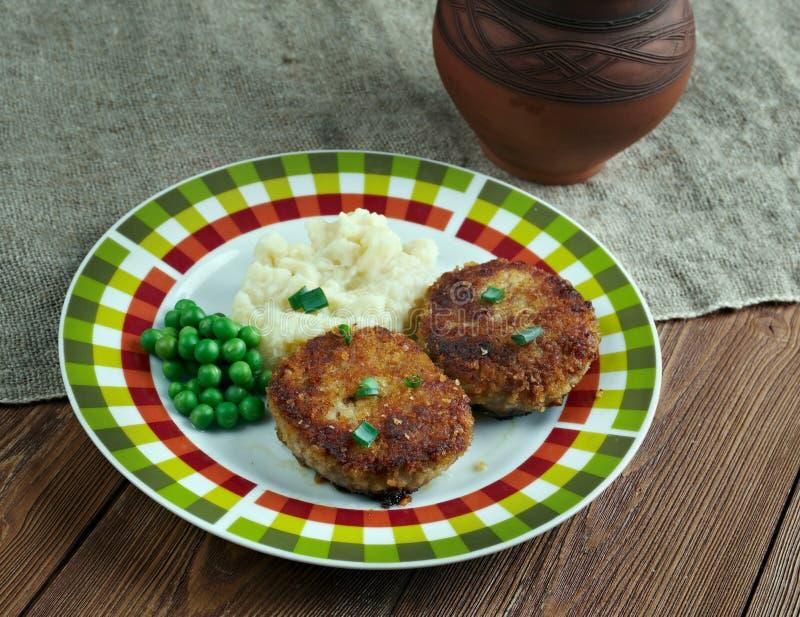 Cotelettes de poulet Pojarski fotografie stock