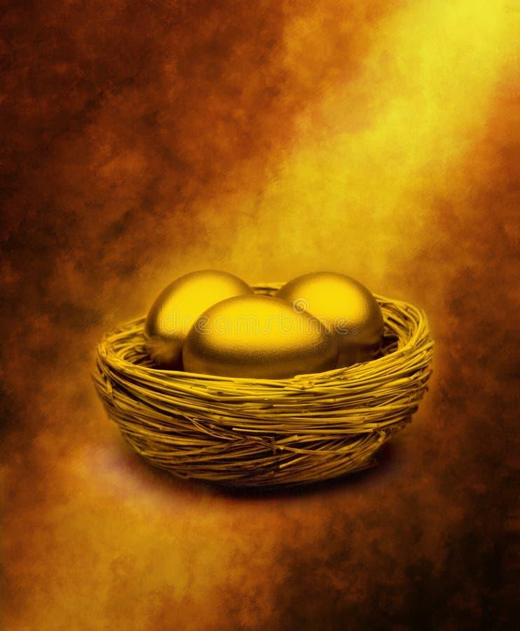 Cotisations de retraite de magots d'or images stock