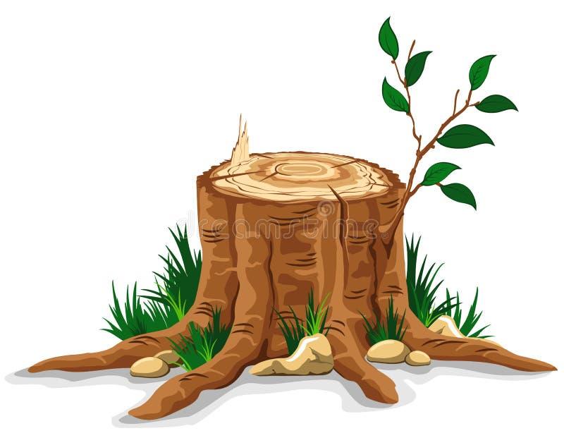 Coto de árvore ilustração royalty free