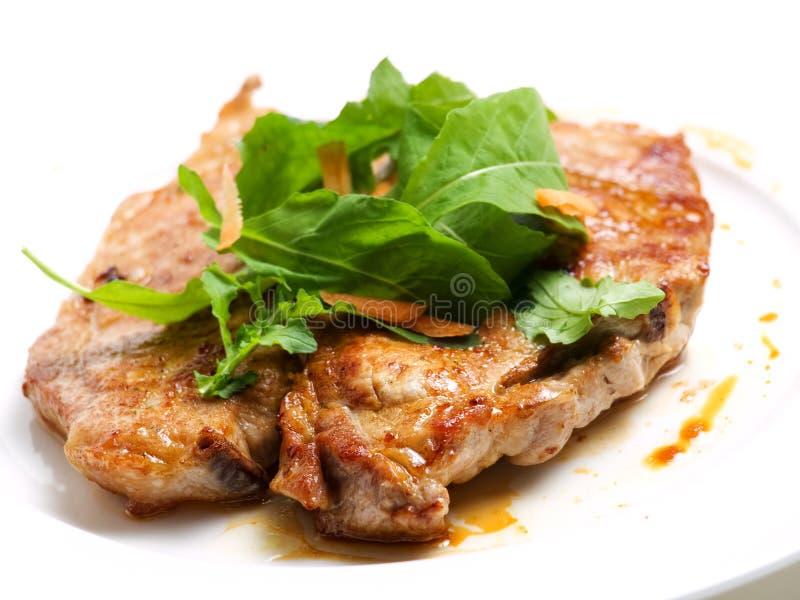 Cotoletta del porco immagine stock