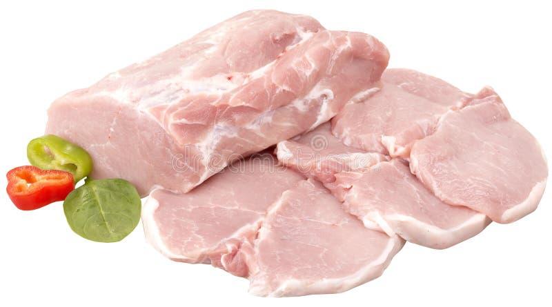 Cotoletta della carne di maiale fotografie stock
