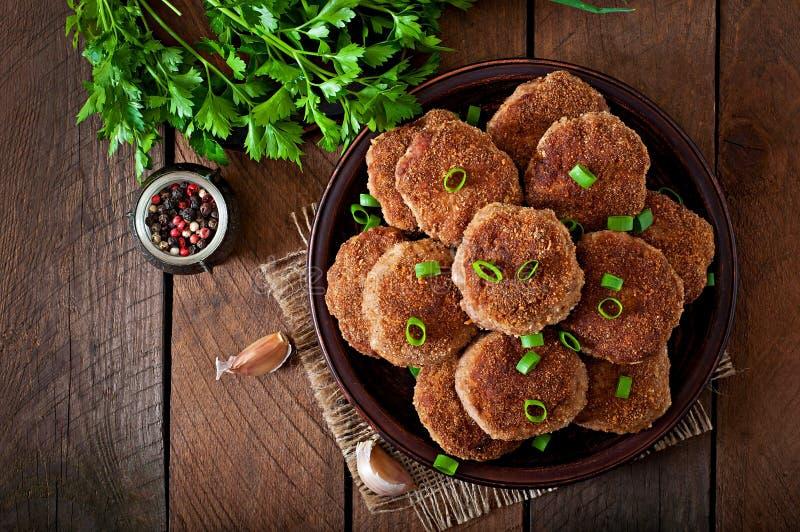 Cotolette deliziose succose della carne fotografie stock libere da diritti