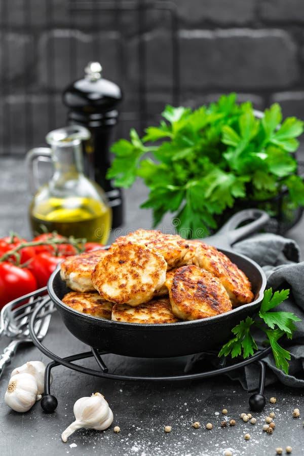 Cotolette della carne di pollo fotografia stock