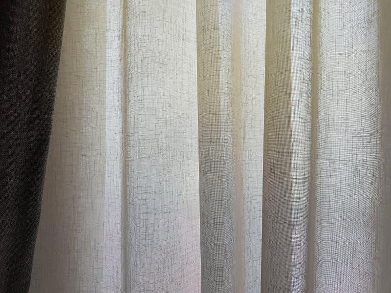 Coton et rideaux de toile en tissu, surface naturelle et toucher doux images libres de droits