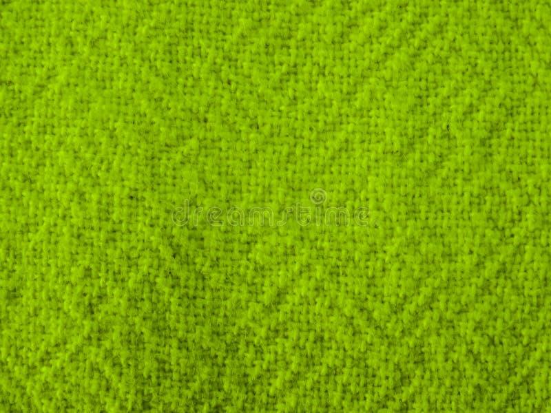 Coton fait main épais naturel vert image stock