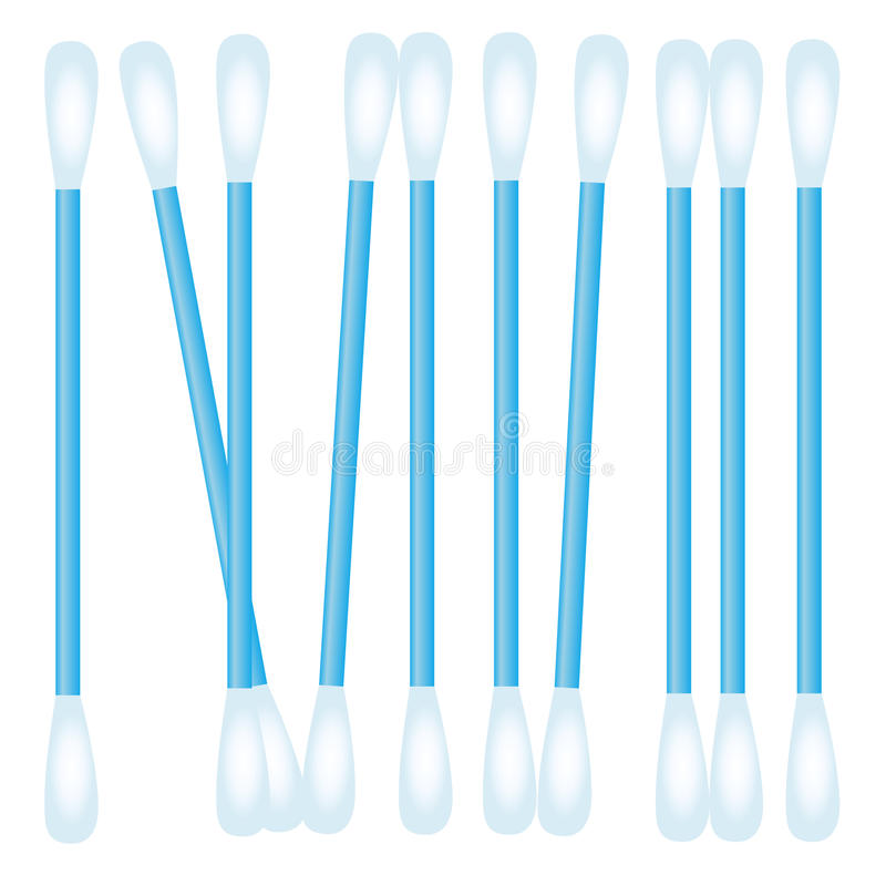 Cotonete de algodão realístico ilustração do vetor