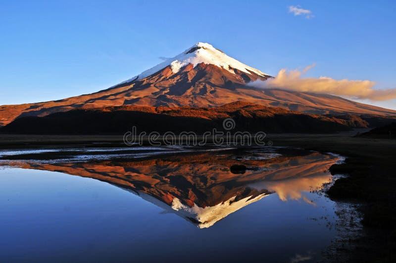 Cotopaxi and Limpiopungo volcano in Ecuador stock photo