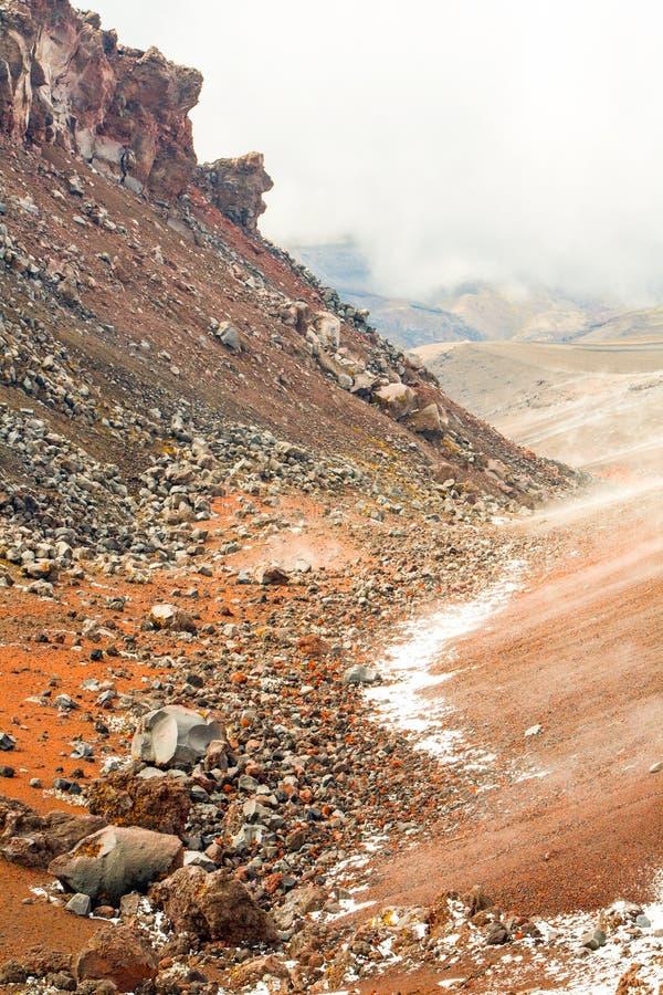 Cotopaxi Volcano Hardened Lava Flows lizenzfreie stockfotos