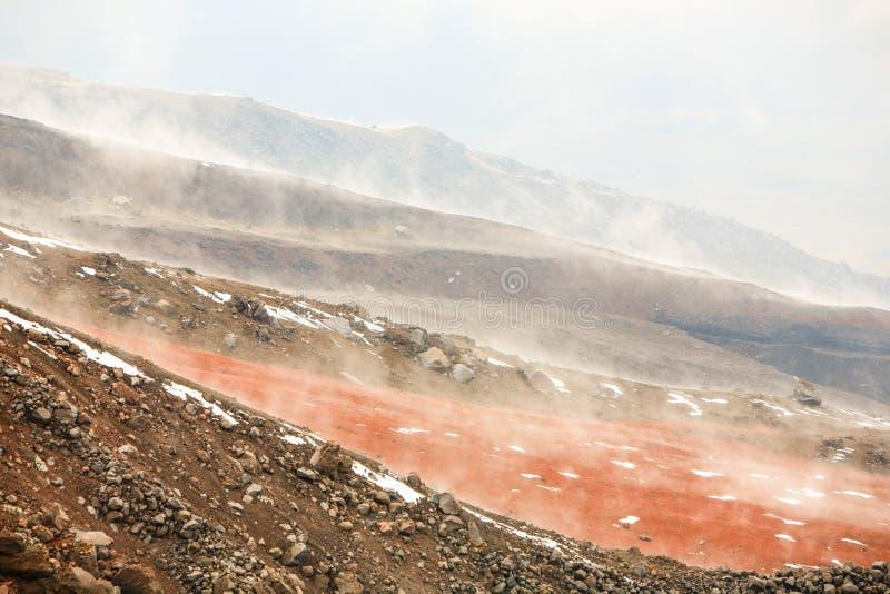 Cotopaxi Volcano Pyroclastic Material royaltyfri fotografi
