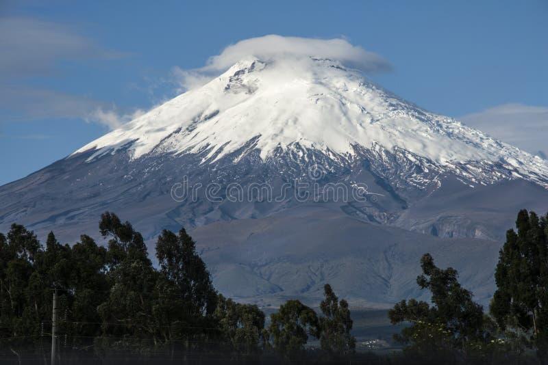 Cotopaxi wulkan, Andyjscy średniogórza Ekwador fotografia royalty free