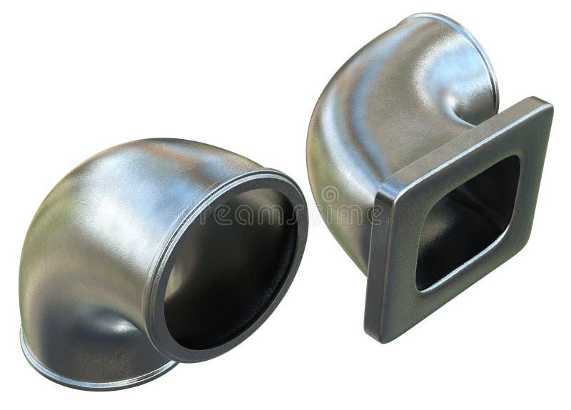 Cotovelos moldados do metal foto de stock