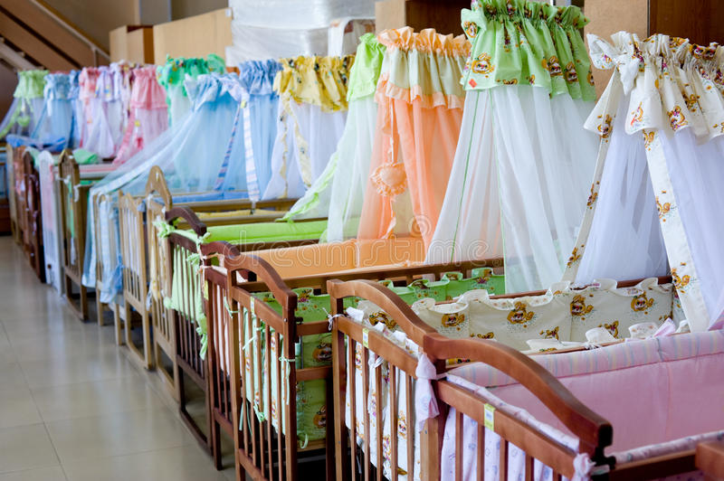 Download Cots stock photo. Image of baby, curtains, wooden, textile - 14579632