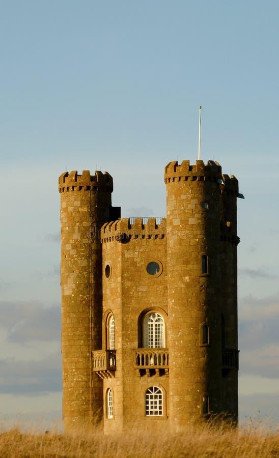 Cotswold的中世纪百老汇塔,渥斯特夏,英国,英国 库存照片