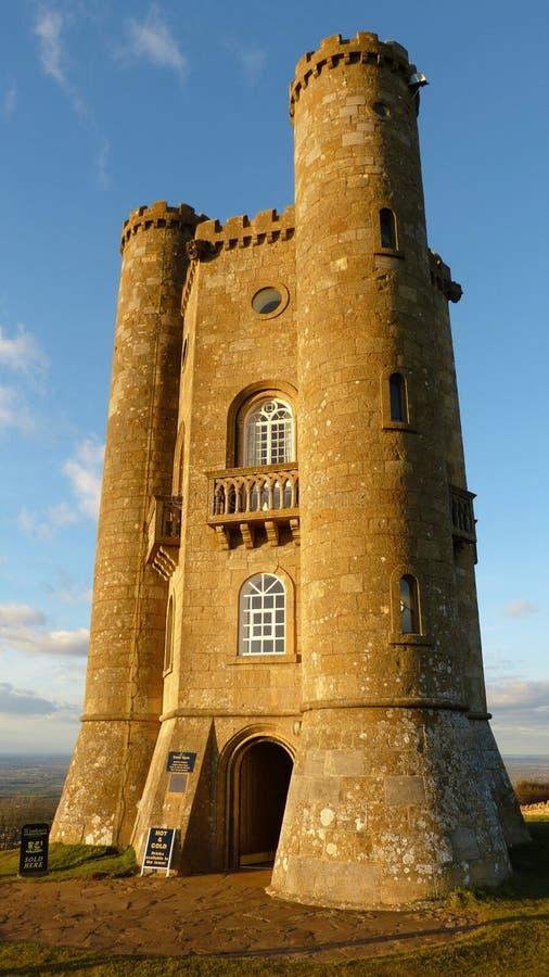 Cotswold的中世纪百老汇塔,渥斯特夏,英国,英国 免版税库存照片