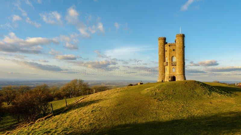 Cotswold的中世纪百老汇塔,渥斯特夏,英国,英国 免版税图库摄影