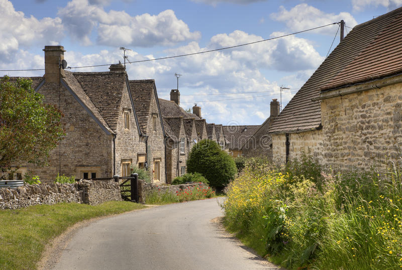 Cotswold village of Hazelton stock photography