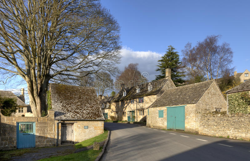 Download Cotswold village in Summer stock image. Image of british - 24840093