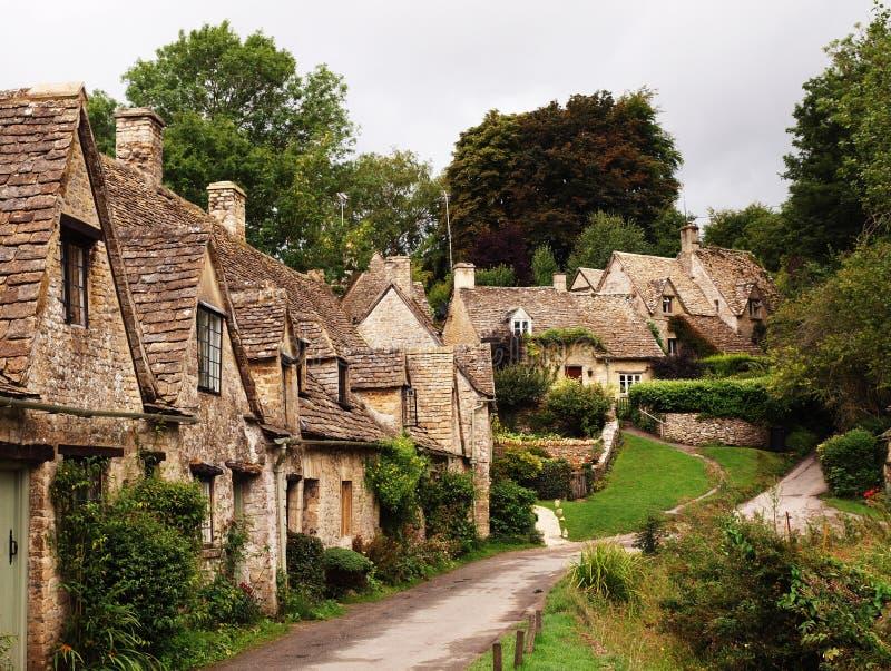 cotswolds英国gloucestershire村庄 库存照片