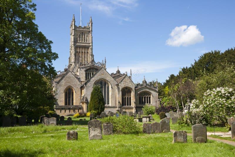Cotswolds pittoresco, Cirencester Abbey Church immagine stock libera da diritti