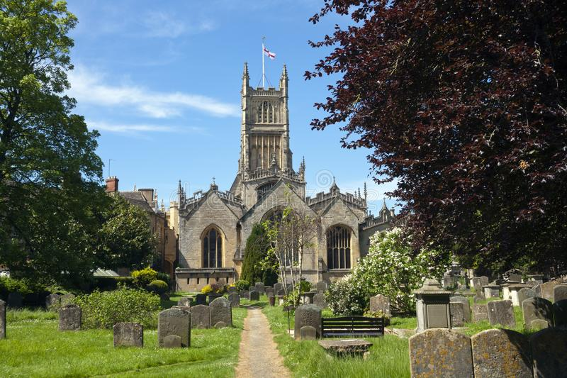 Cotswolds pittoresco, Cirencester Abbey Church fotografia stock libera da diritti
