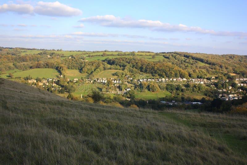 Cotswoldsna på Stroud royaltyfri foto