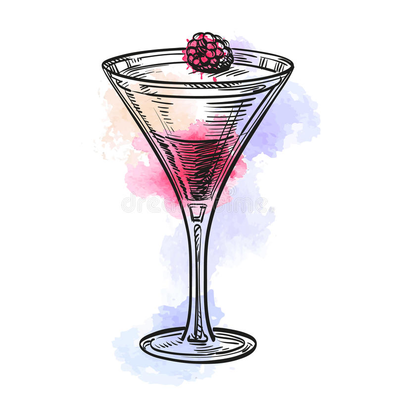 Cotta de Panna avec rasberry illustration libre de droits