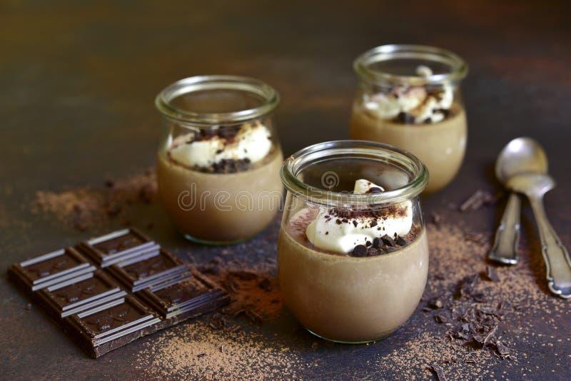 Cotta panna καφέ σοκολάτας στοκ φωτογραφία με δικαίωμα ελεύθερης χρήσης