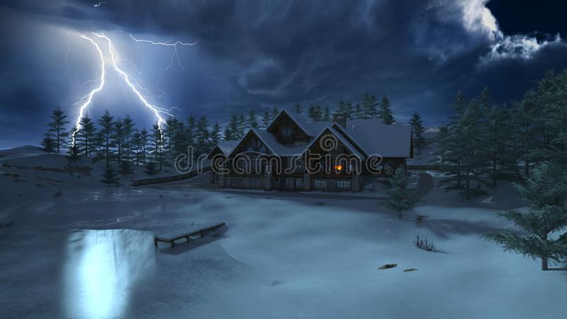 cottage illustration stock