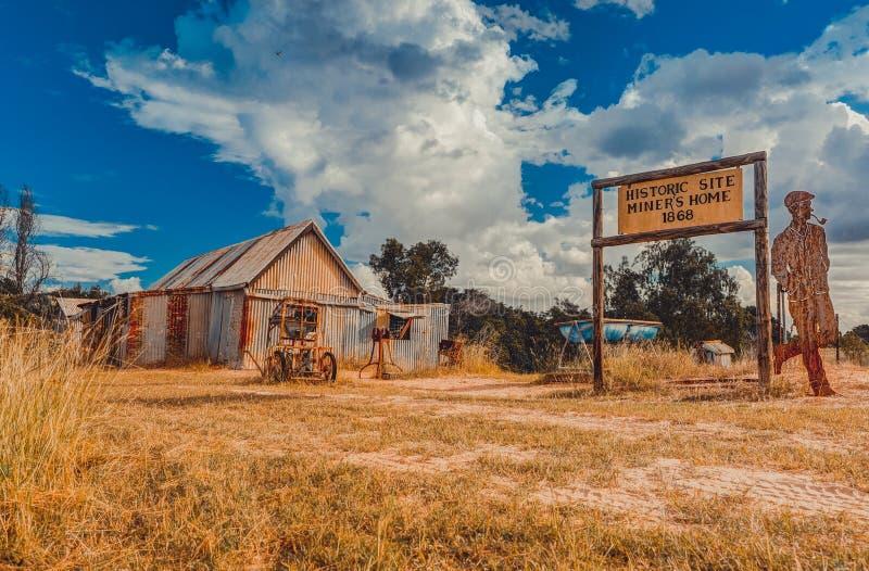 Cottage abbandonato dei minatori fotografie stock