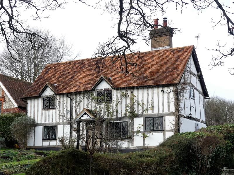 Cottage ad un vicolo di 38 chiese, Latimer fotografie stock