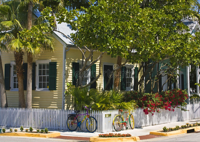 Cottage With Bicycles Royalty Free Stock Photo