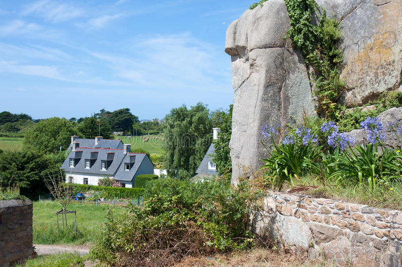 Download Cottage In Brittany, France Stock Image - Image of brehat, brittany: 22564277