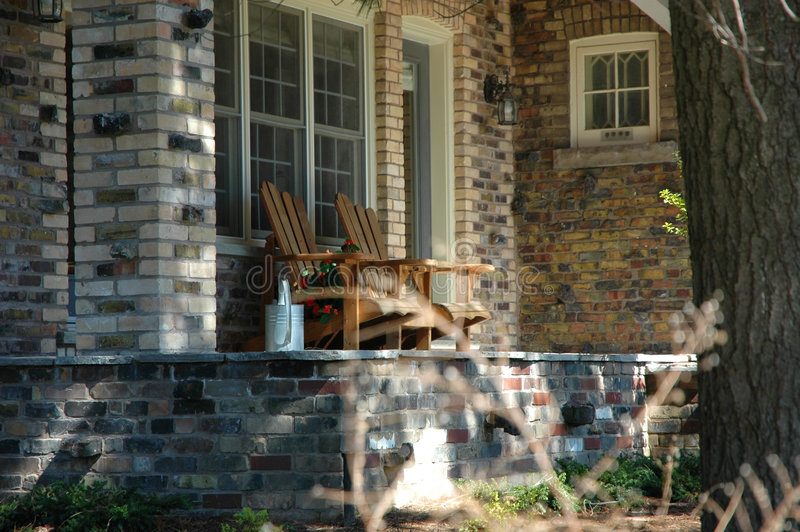 Cottage Chairs royalty free stock photography