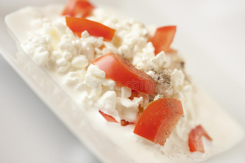 The cottage cheese stock photography