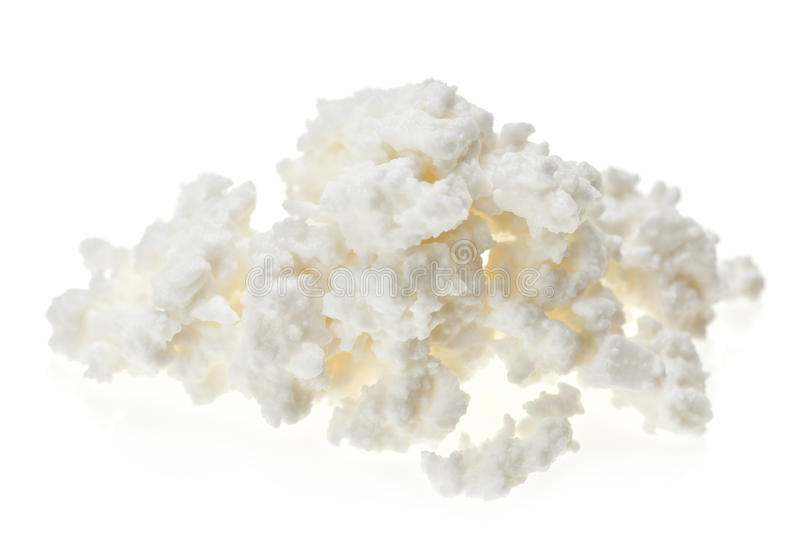 Cottage cheese (curd) heap royalty free stock image
