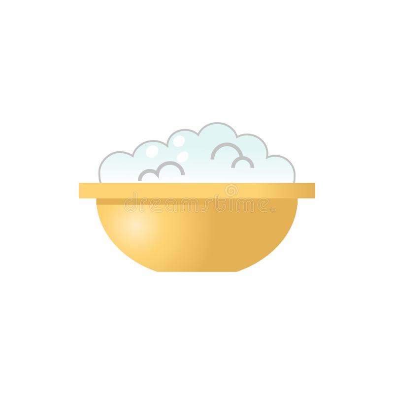 Cottage cheese icon. Cottage cheese flat vector illustration isolated on white background for icon, logotype, mobile app and web design vector illustration