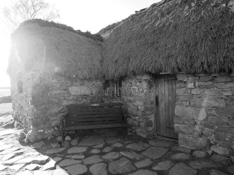 Cottage de champ de bataille de Culloden images stock