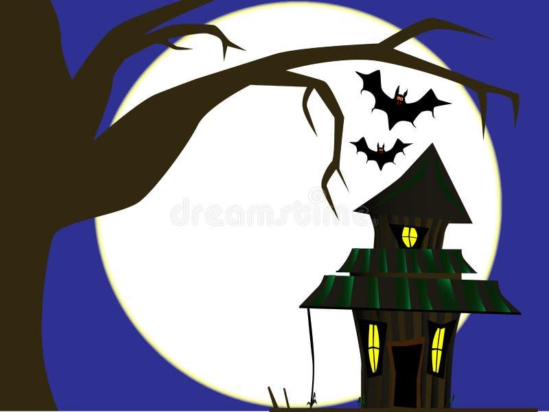 Cottage de Halloween illustration de vecteur