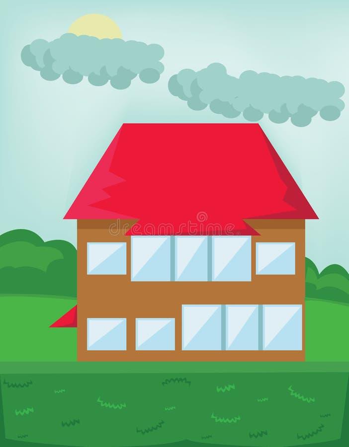 Cottage de touristes en bois illustration libre de droits