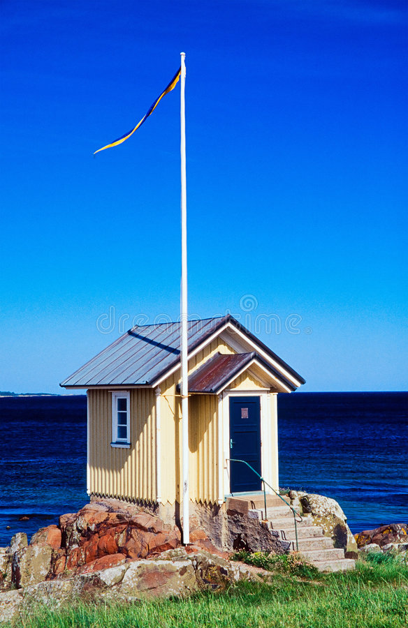 Cottage del mare fotografie stock libere da diritti