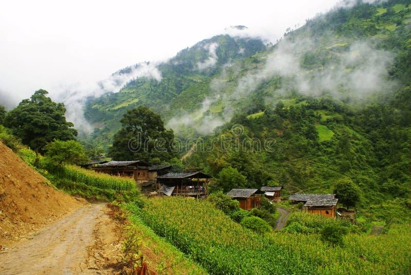 Cottage della nazionalità di Lisu fotografie stock libere da diritti