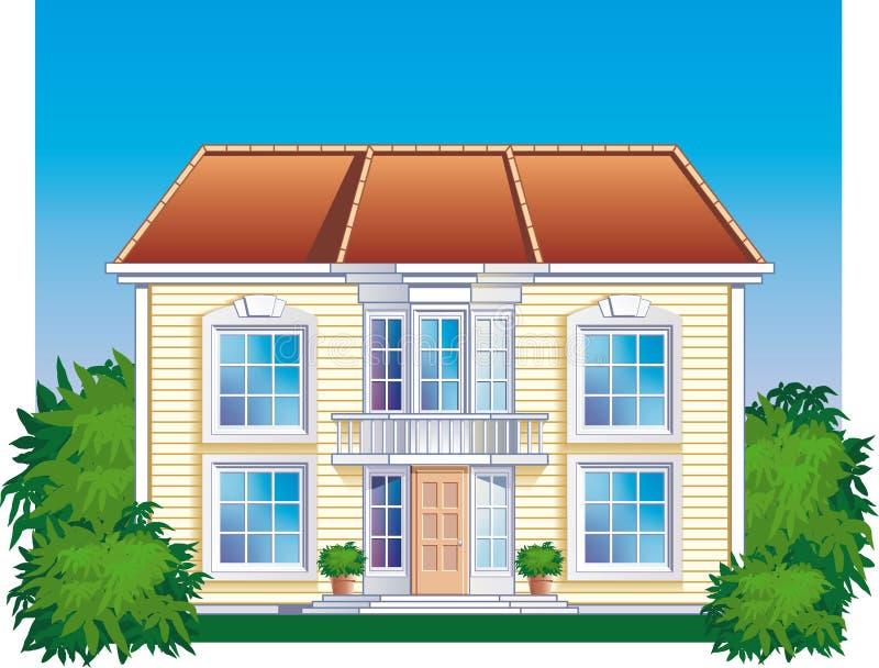 Cottage (detailed) vector illustration