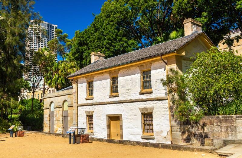 Cottage di Cadmans, la più vecchia costruzione a Sydney, Australia fotografie stock libere da diritti