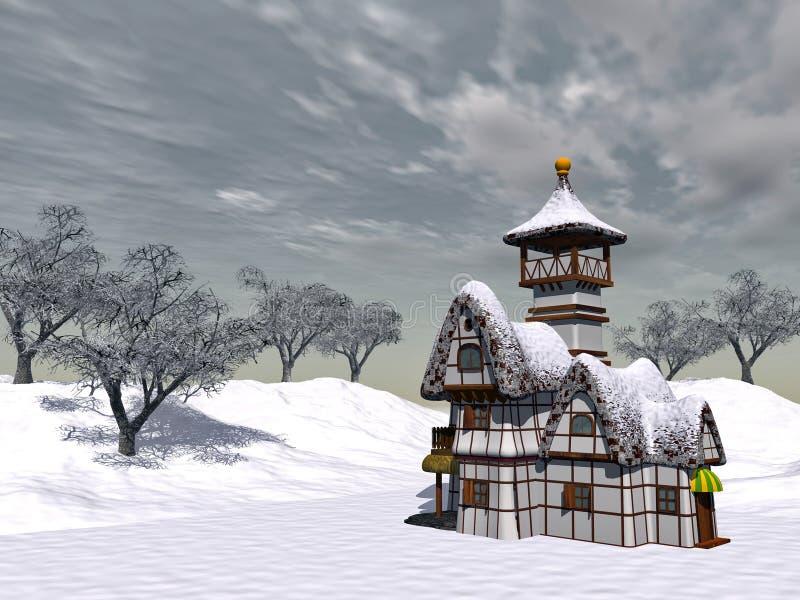 Cottage di Fairy-tale illustrazione di stock