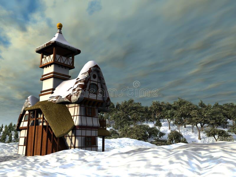 Cottage di Fairy-tale illustrazione vettoriale