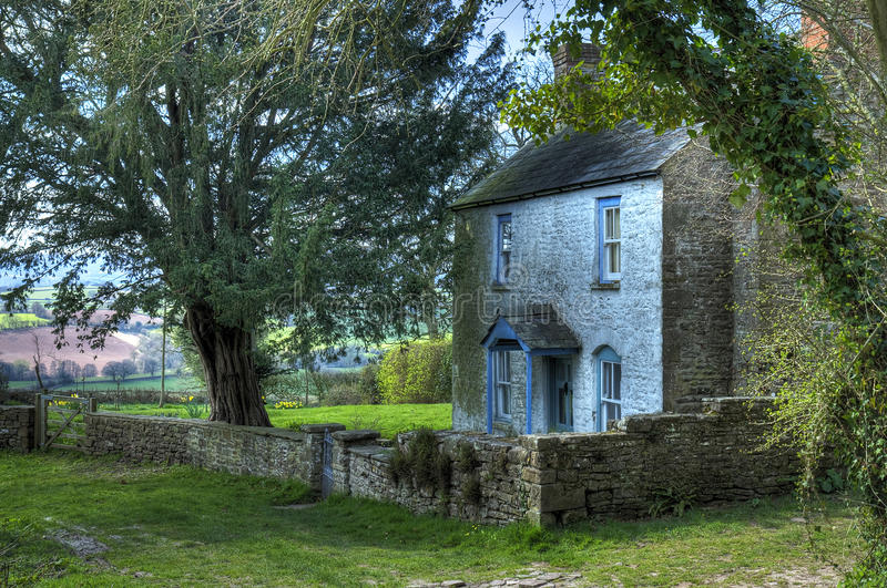 Cottage di Lingua gallese fotografie stock libere da diritti