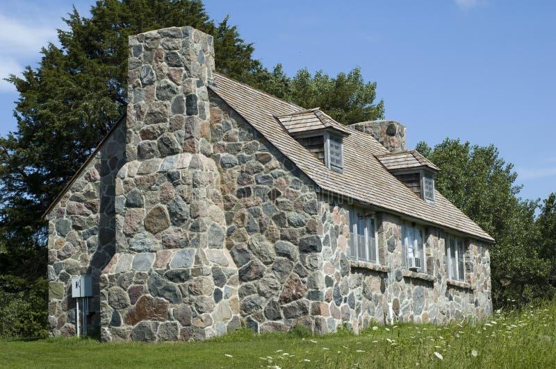 Cottage di pietra in lago Okoboji, Iowa fotografia stock